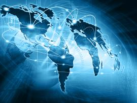 Internet Concept of global business from concepts series