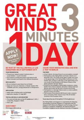 Image of (428104) Falling Walls Lab Singapore - Deadline extended to 12 August