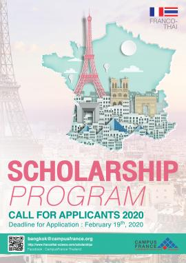 Image of (461816) The 2020 Franco-Thai Scholarship Programme is Open Now. Deadline 19 February 2020